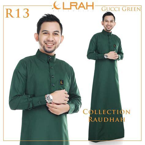 Baju Lelaki Warna Hijau jubah lelaki yang bergaya dari elrah exclusive dunia farisya