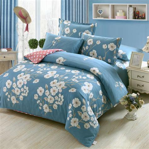 white comforter with blue flowers fresh flowers white blue bedding duvet set decorate it 101