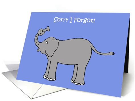 the elephant with a knot in his trunk books sorry i forgot elephant with knot in his trunk card