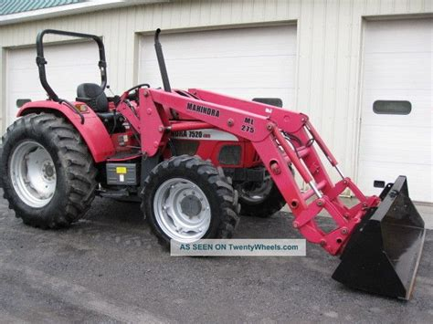 mahindra jcb photo mahindra 7520 4wd tractor w ml275 loader
