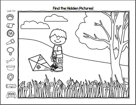 printable hidden pictures for kindergarten free hidden pictures worksheets activity shelter