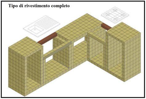 piastrelle incollate su piastrelle una cucina in muratura con l uso dei blocchi