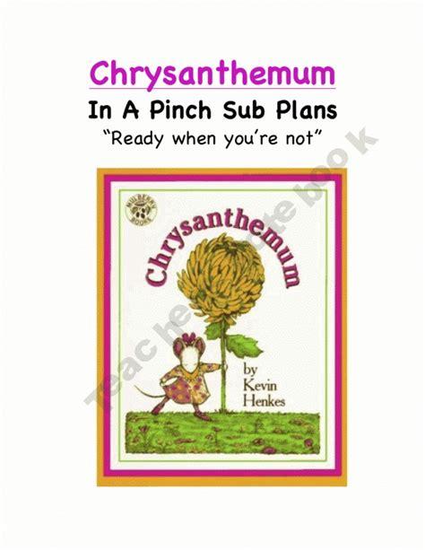 chrysanthemum picture book chrysanthemum kindergarten emergency sub plans a