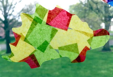 Tissue Paper Suncatcher Craft - how to make tissue paper suncatchers easy crafts