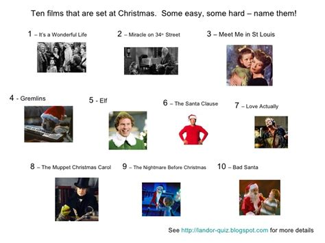 Miracle On 34 Street christmas movies picture quiz