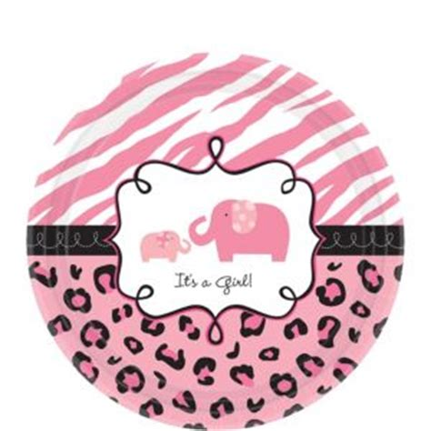 Safari Baby Shower Plates by Pink Safari Baby Shower Dessert Plates 18ct City
