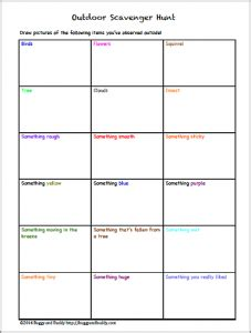Scavenger Hunt Template Doliquid Buddy Checklist Template