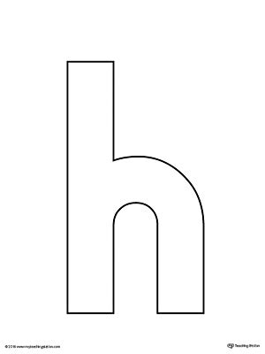 letter h template uppercase and lowercase letter h printable writing mat
