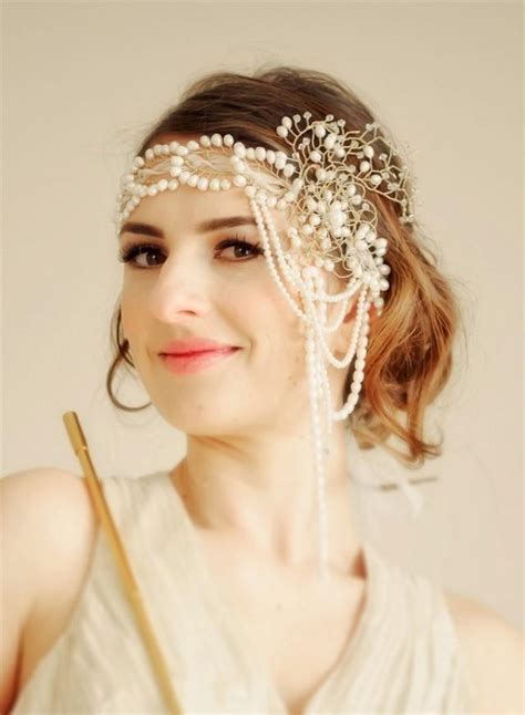 how to make a 1920s hairpiece wedding bridal flapper headband gone with the wind made