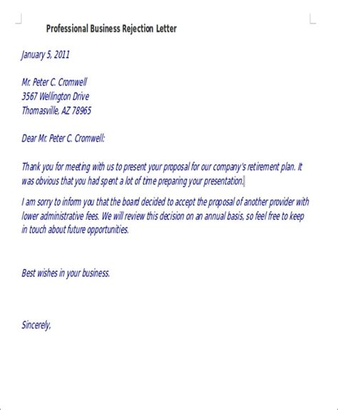 rejection letter templates word google docs apple