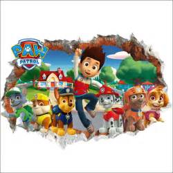3d paw patrol snow snow slide background removable wall stickers bedroom home home