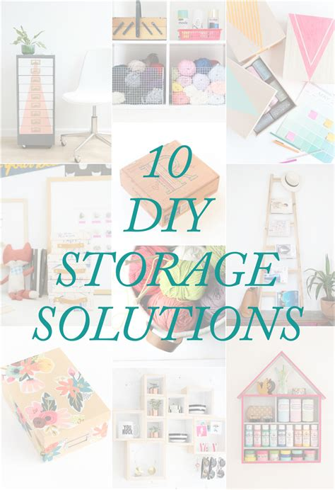 diy solutions 10 diy storage solutions the crafted life