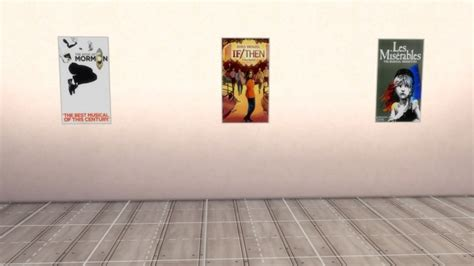 set   broadway posters  deegardiner  mod  sims