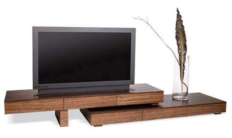 wooden tv stand small modern and cool wood with white also zebra wood anguilla tv stand apartment therapy