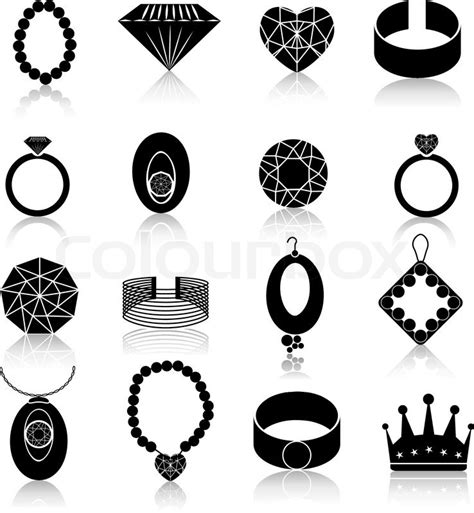 fashion jewelry images illustrations vectors fashion jewelry icons black set of fashion expensive gems and