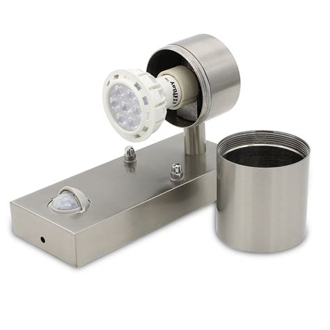pir outdoor wall light stainless steel ip44 motion sensor