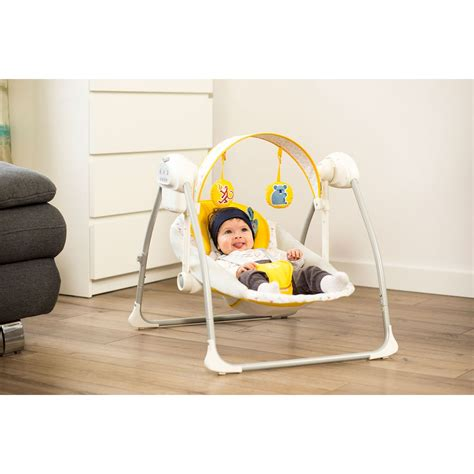 newest baby swings kinderkraft nani yellow baby bouncing chair swing seat