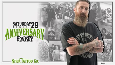 come celebrate one year with stick tattoo company stick