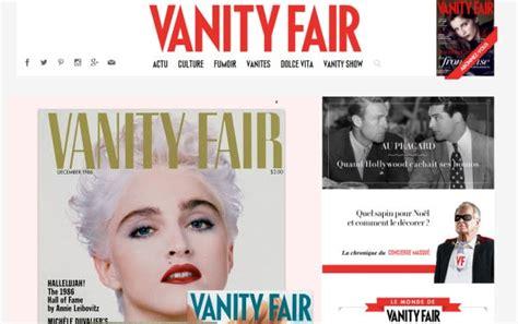 magazine layout vanity fair 20 exles of print inspired web design