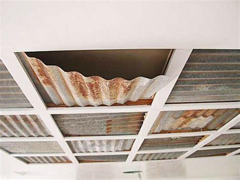 drop ceiling corrogated steel corrugated metal ceiling panels basement babes pinterest