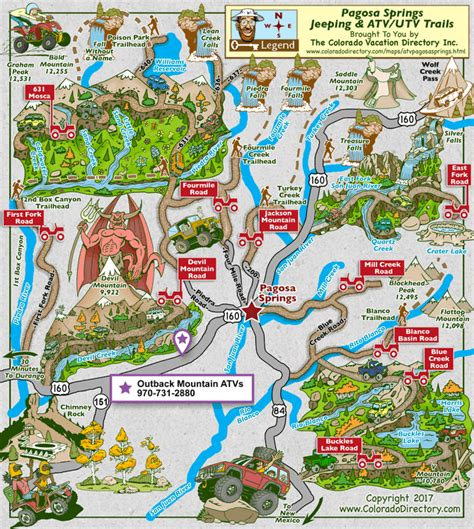 colorado jeep trail maps pagosa springs jeeping atv trails map colorado