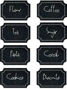 Kitchen Canisters Red some of the best free kitchen label printables