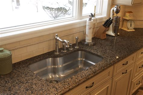 Sink Options For Granite Countertops by Kitchen Great Granite Countertop From Ogee Edge
