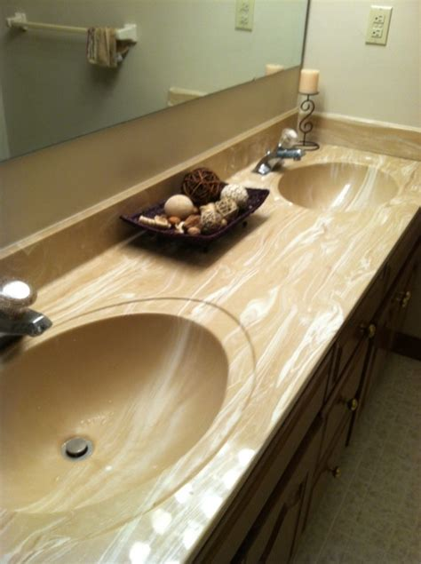 bathroom vanity refinishing