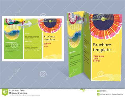 brochure booklet z fold layout editable design t royalty