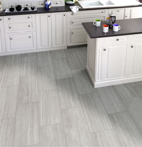 Contemporary Bathroom Tile Ideas Silver Gray Travertine Look Porcelain Tile It Matches A