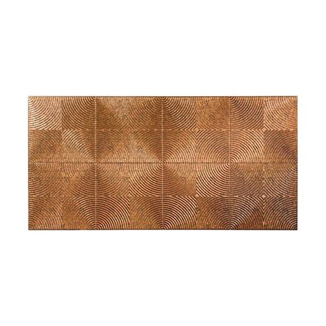 Decorative Wall Panels Home Depot Fasade Echo 96 In X 48 In Decorative Wall Panel In Cracked Copper S69 19 The Home Depot