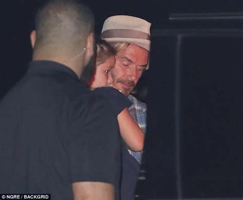 Beckham Wednesday by Braless Beckham Enjoys Dinner With David And