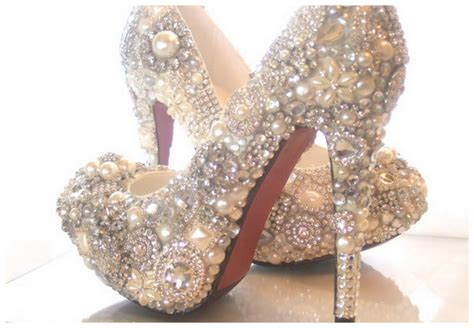 Sparkly Wedding Shoes by Beautiful Sparkly Shoes For Your Wedding Day Your