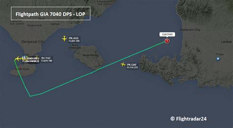 garuda atr  runway excursion  lombok