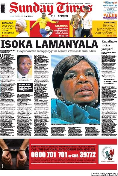 sunday news south african newspaper front pages paperboy online