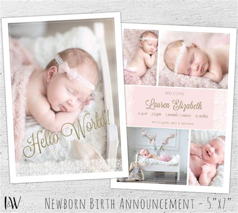 free birth announcements templates newborn announcement template photoshop template new