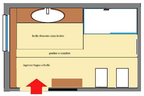 bagno rettangolare progetto progetto di bagno su tre livelli con rivestimenti in mosaico