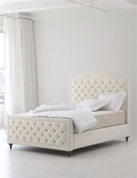 Excellent White High Tufted Bed Headboard With White Cover Upholstered Bed