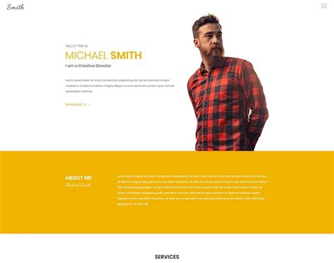 Resume Website Template by 18 Popular Html Resume Cv Website Templates 2018 Colorlib