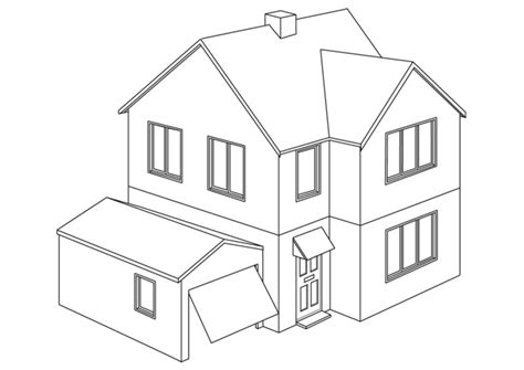 Free Coloring Pages Of Mansion Coloring Page House