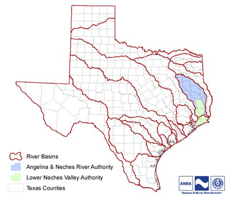texas map with rivers river map texas
