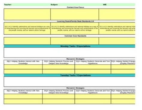 florida lesson plan template interactive grade social studies lesson plan