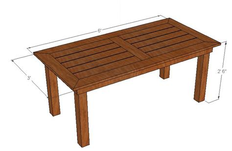 Outdoor Patio Table Plans Dining Table Outdoor Dining Table Woodworking Plans