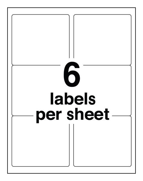 avery template 8164 avery easy peel clear shipping labels for inkjet printers