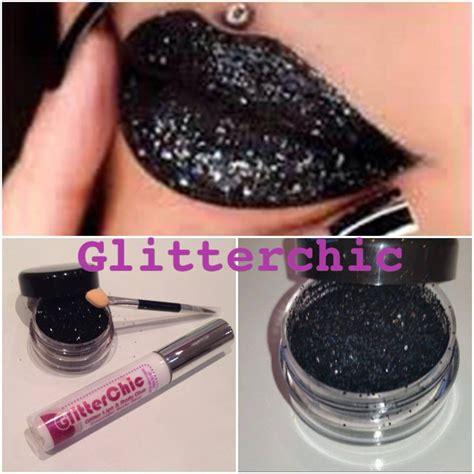 Glitter Lipstick Make glitter black lipstick glitter by glitterchic glam 10g large pot ebay