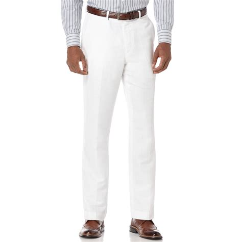 tall white linen perry ellis big and tall linen blend herringbone pants in