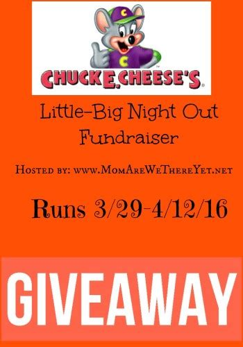 Chuck E Cheese Giveaway - little big night out giveaway mom are we there yet