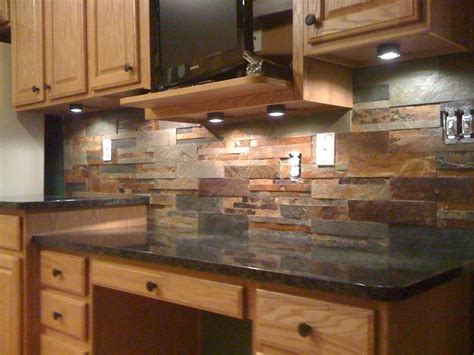 slate backsplash kitchen granite countertops and tile backsplash ideas eclectic
