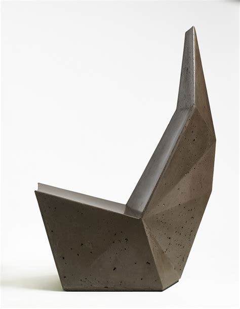 design form over function concrete chairs unveiled at miami design week definitively
