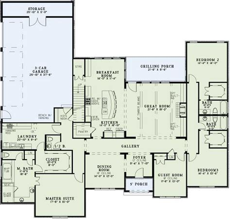 12 bedroom house plans 3400 sq ft ranch laundry by master favorite floor plans